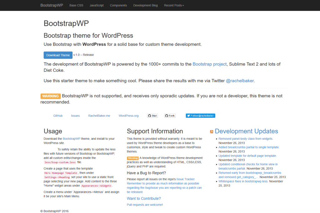 BootstrapWP - Starter theme for WordPress
