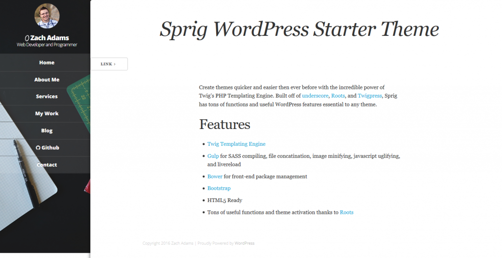 Sprig - Starter theme for WordPress