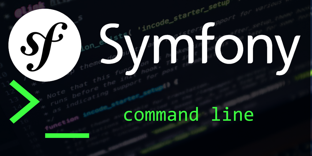Symfony console - command line